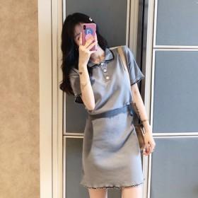小香风套装显瘦半身裙赫本风轻熟风夏季女装洋气韩版