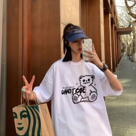 2020新款T恤女短袖学生韩版宽松小众设计感大码