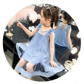 2020新款韩版儿童时尚裙子女孩夏装时髦吊带连衣裙