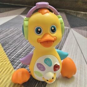 抖音同款电动小黄鸭儿童益智玩具男孩女孩
