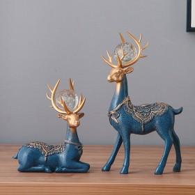 创意小鹿摆件轻奢客厅装饰品