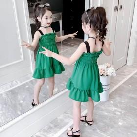 女童连衣裙夏2020新款儿童吊带裙小女孩...