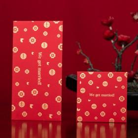 十个装结婚喜字创意千元红包利是封婚礼婚庆用品结婚烫