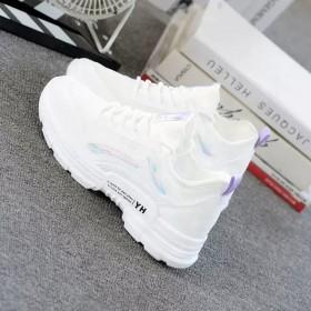 夏季小白鞋女鞋透气洋气平底网鞋运动鞋