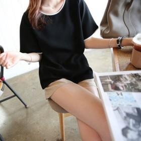 2020新款女T恤学生短袖上衣韩版纯色大码班服打底