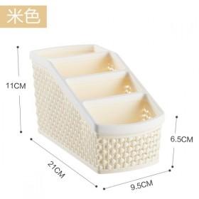 家用桌面化妆品镂空收纳盒梳妆台办公整理防滑收纳盒