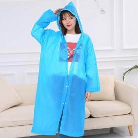 旅行便携式peva磨砂非一次性雨衣成人加厚男女骑行