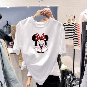 酷潮T恤女夏潮韩版宽松上衣学生卡通米奇短袖