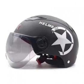电动车电瓶摩托车头盔灰男女士款夏季