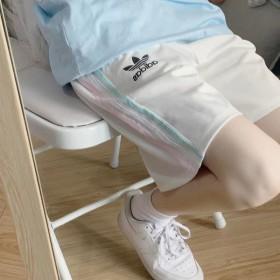 三杠短裤女五分裤BF夏季学生韩版宽松休闲裤子运动裤