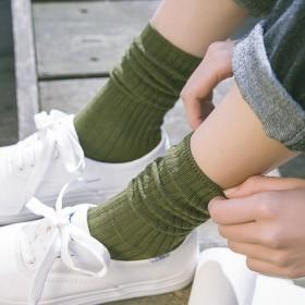 堆堆袜女日系袜子老爹鞋伴侣纯棉夏女士纯色ZL