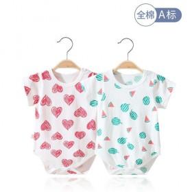 婴儿连体衣纯棉夏季包屁衣新生儿爬服男女宝宝三角哈衣