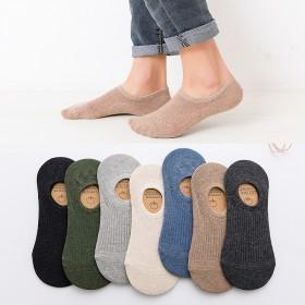 袜子男船袜纯棉春夏季薄款短袜防臭透气夏天男士隐形硅