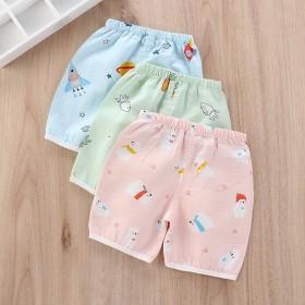 宝宝短裤薄款夏季外穿纯棉纱布可开裆裤婴儿短裤儿童裤