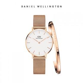 DW丹尼尔惠灵顿简约金属表带手表手镯套装礼物