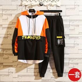 学生韩版潮流卫衣青少年运动休闲两件套