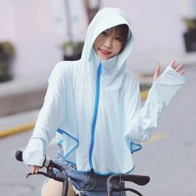 夏季韩版冰丝防晒衣女骑车遮阳防晒服透气防紫外线薄款