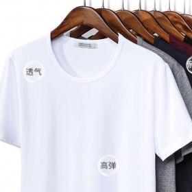 2件短袖T恤男士打底衫V圆领纯色