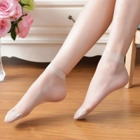 水晶短丝袜春夏超薄短袜子女士透明彩色丝袜