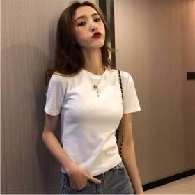 2020夏季韩版新款宽松纯色短袖T恤女上衣气质修身