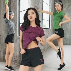 运动套装女夏休闲两件套宽松跑步夏季薄款短袖短裤