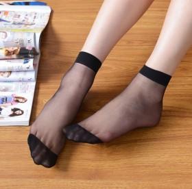 5双水晶短丝袜夏短袜子女士透明彩色丝袜清凉袜女包邮