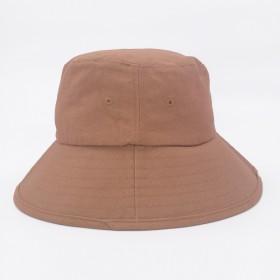 棉布大帽檐帽子韩潮牌防晒帽遮脸平顶盆帽