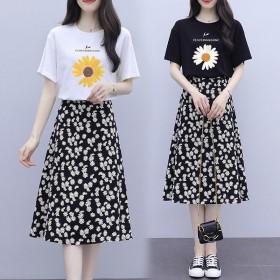 套装 含棉2020新款夏季连衣裙女夏洋气时尚气质裙
