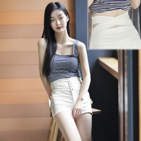 高腰短裤女 三色 S码~3XL码