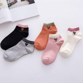 【两双装】女士船袜子女款袜子卡通小猫女短筒袜浅口袜