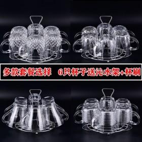 玻璃杯套装家用6只装水壶套装欧式耐热泡茶