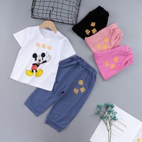 儿童短袖套装夏季男女童童装婴儿纯棉小孩衣服宝宝套装
