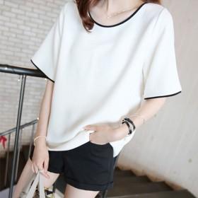 2020韩版夏季新款显瘦女上衣大码宽松短袖T恤