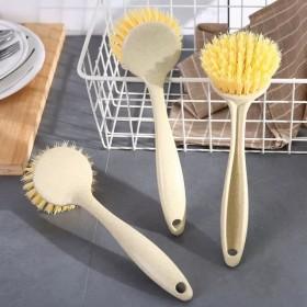 2个装创意精品家用厨房长柄清洁刷去污洗锅刷可挂式