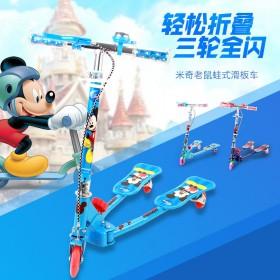 迪士尼米奇蜘蛛侠蛙式滑板车