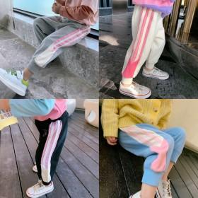 2020新款女童裤子春秋宝宝儿童运动裤纯棉洋气长裤
