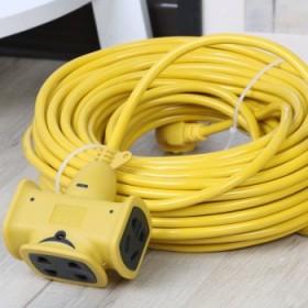 20米 抗摔耐拖拽电动车充电延长线插座插