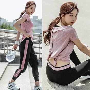 瑜伽服套装女夏速干透气薄款宽松健身房跑步运动健身服