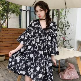 碎花裙女夏天法式洋气egg裙子中长款初恋很仙连衣裙