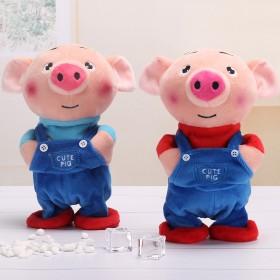 抖音走路唱歌电动会说话海草猪宝宝男孩0-3岁玩具