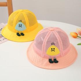 儿童帽子夏防晒大帽檐可爱超萌渔夫帽夏季薄款网眼透气