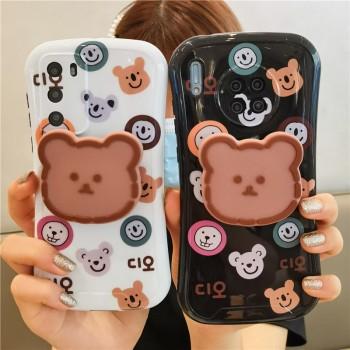小蛮腰情侣支架华为mate30pro手机壳女小熊p