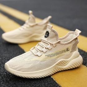 夏季新款透气网面飞织男鞋时尚运动鞋潮流韩版鞋休闲跑