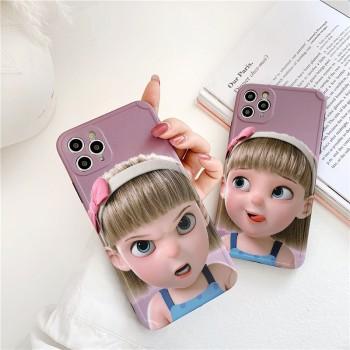 华为p40pro手机壳表情女孩p30pro卡通少女