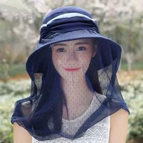 防蚊防紫外线太阳帽遮脸凉帽夏遮阳帽防晒帽女帽子