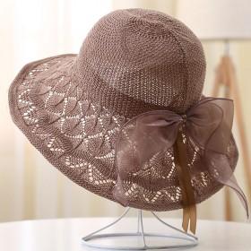 (可水洗可折叠)帽子女夏防晒太阳帽大沿渔夫帽遮阳帽