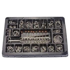 九连环益智玩具成人孔明锁鲁班锁智力玩具高智商机关盒