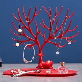 创意小鹿角树形饰品首饰收纳盒耳环手镯项链手链耳钉架