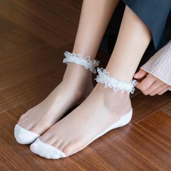 水晶丝短袜 春季新款玻璃丝透气丝袜 女士袜子sww