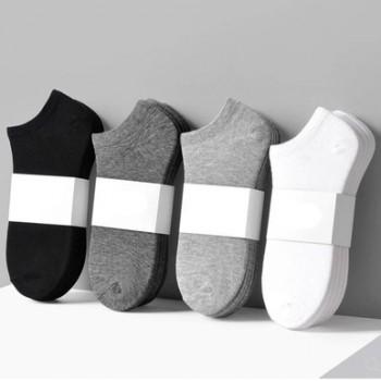 男女袜子女短袜浅口韩国可爱低帮短筒男黑色白色船袜纯